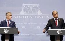 Torra desdeña una reforma estatutaria y Urkullu pide gestos de distensión