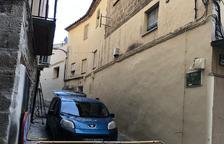 Obres per reurbanitzar dos carrers del centre de Fraga