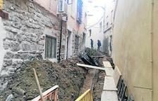 Obres per frenar humitats al centre de Fraga