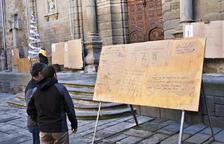 Els Cartells de Reis de Guissona respecten l'església