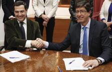 Vox respalda el Gobierno de PP y Ciudadanos en Andalucía, que ya se reparten la Junta