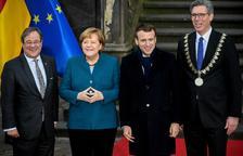 Merkel i Macron renoven la seua aliança pro UE en un tractat bilateral