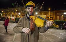 Un violín con forma de Catalunya, en Tàrrega