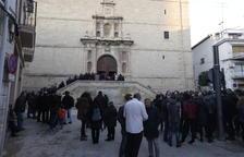 Decenas de personas dan su último adiós a Núria Borràs en Les Borges