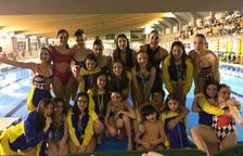 Medallas leridanas en el Campeonato de Aragón de natación artística